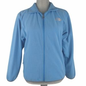 The North Face Light Blue Zip Jacket Size Large